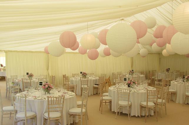 Wedding marquee paper lanterns