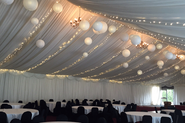 Fairy Lights and Paper Lanterns at Solsgirth House