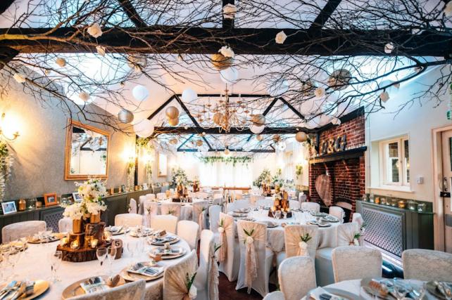 Gold winter wedding