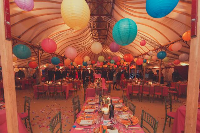 Multi Coloured Hanging Lanterns