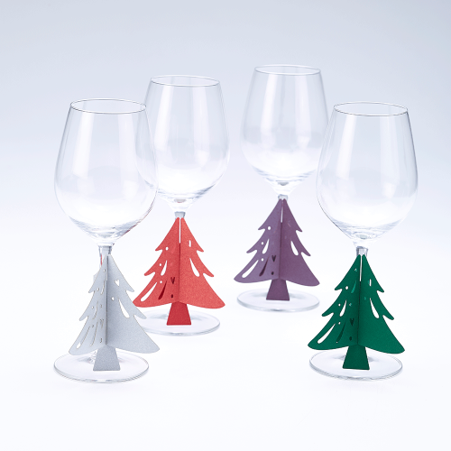 Wedding Christmas Tree Glass Stem Decorations