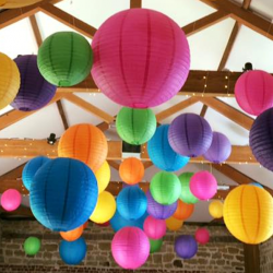 Hendall Manor Barn lanterns
