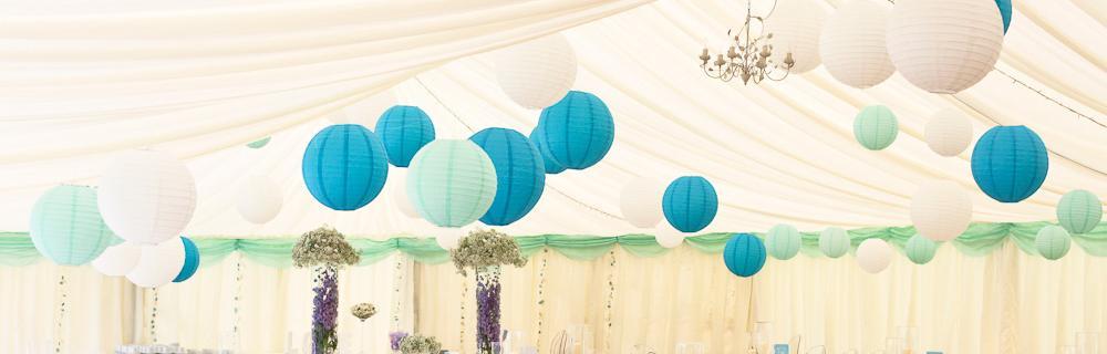 Blue, Turquoise and Baby Blue Lanterns