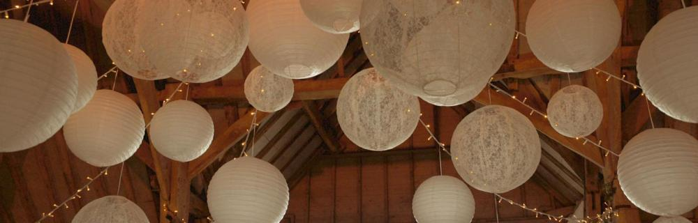 Rustic Chic and lace lanterns