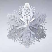 silver laser cut snowflake