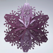 Ruby 3d Christmas snowflakes