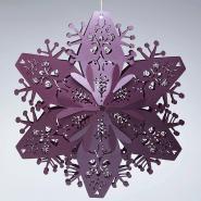 Ruby 3d Christmas snowflakes