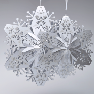 Large silver Christmas snowflakes