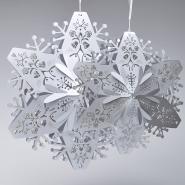 Large silver Christmas snowflakes