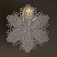 White Christmas snowflake decoration