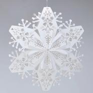 3d white lasercut snowflakes