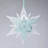 Deco Snowflake White and Baby Blue