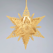 Gold Christmas snowflake