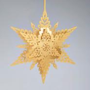 Gold Christmas snowflake