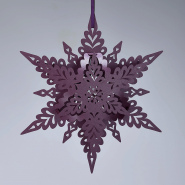 Ruby Christmas Snowflakes
