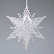 Deco White Christmas Snowflake