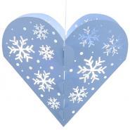 Snowflake heart pendant lantern