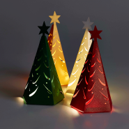 Mini Christmas Tree Decorations illuminated with Buttonlites