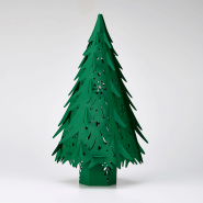Green lasercut Christmas Tree Lanterns