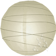Round Ivory paper lantern