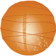 Round Orange paper lantern