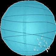 Turquoise Round Paper Hanging Lantern