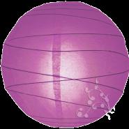 Round Violet paper lantern