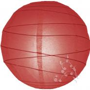 Large red irregular ribbed paper lanterns