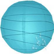 Extra Large Turquoise Irregular Ribbed Paper Lantern