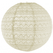Large white lace lanterns