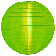 Apple Green Nylon outdoor hanging lanterns