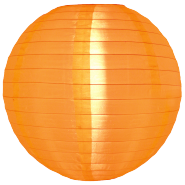 Orange Nylon outdoor hanging lanterns
