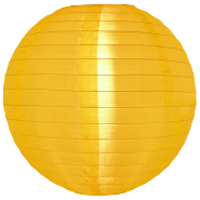 Large 20 inch Yellow Nylon Lanterns