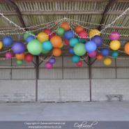 Rainbow Coloured Hanging Lanterns
