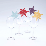 Snowflake wine glass decorations