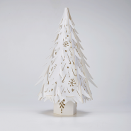 Lasercut Christmas Trees in White
