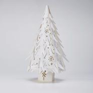 Lasercut Christmas Trees in White
