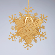 Gold Floral Snowflake