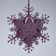Ruby winter floral snowflakes