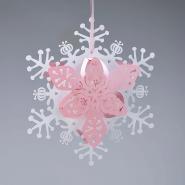 White and pink floral snowflake Christmas snowflake lanterns
