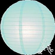 Large baby blue lanterns