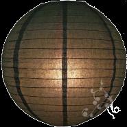 Black round paper lantern