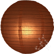 Round Brown paper lanterns