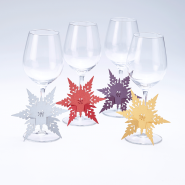 Wine Glass Stem snowflake decorations
