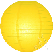 Yellow paper chinese hanging lantern