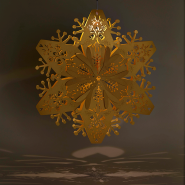Gold snowflake lanterns