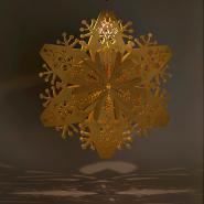 Gold snowflake lanterns