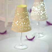 Cream Ivory wine glass shades