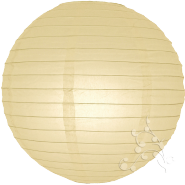 Very Large Ivory Paper Lanterns