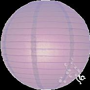 Lavender round paper lantern